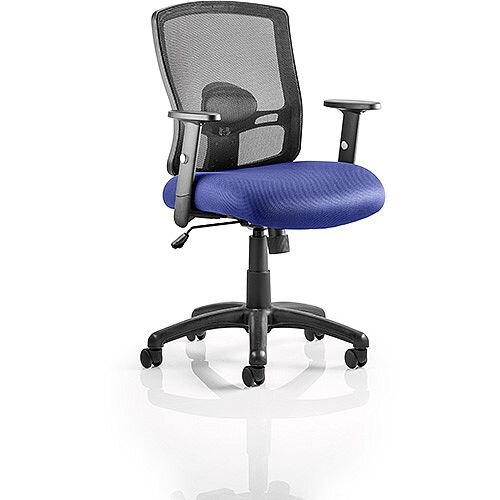 Portland Mesh Back Task Operator Office Chair Serene Blue