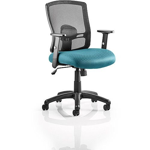 Portland Mesh Back Task Operator Office Chair Kingfisher Green