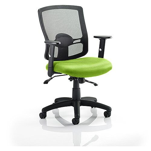 Portland II Mesh Back Task Operator Office Chair Swizzle Green