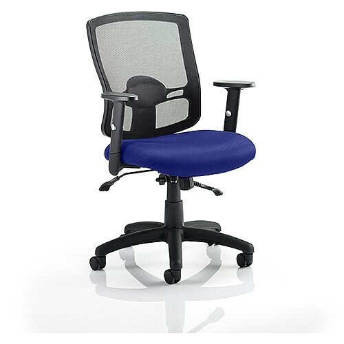Portland II Mesh Back Task Operator Office Chair Serene Blue