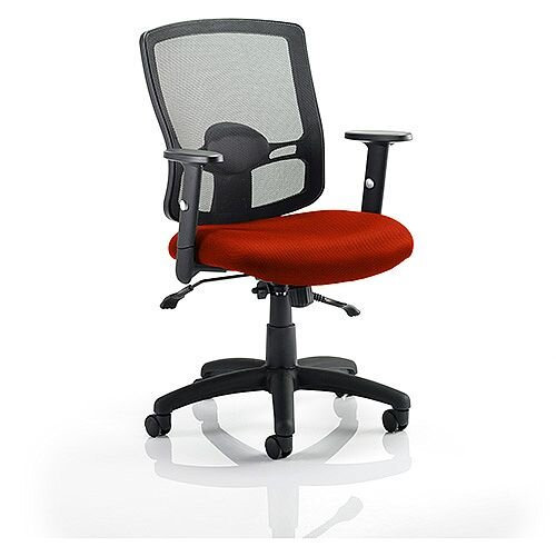 Portland II Mesh Back Task Operator Office Chair Pimento Rustic Orange