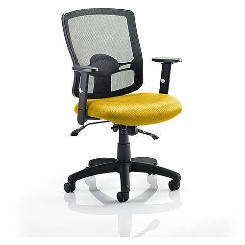 Portland II Mesh Back Task Operator Office Chair Sunset Yellow
