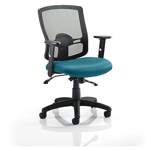 Portland II Mesh Back Task Operator Office Chair Kingfisher Green