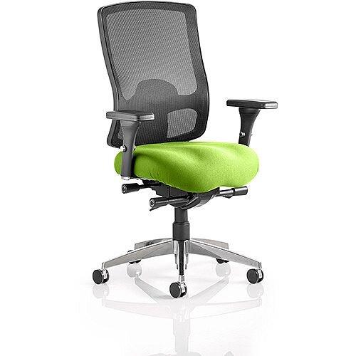 Regent High Mesh Back Task Operator Office Chair Swizzle Green