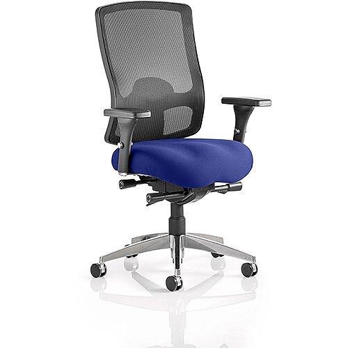 Regent High Mesh Back Task Operator Office Chair Serene Blue