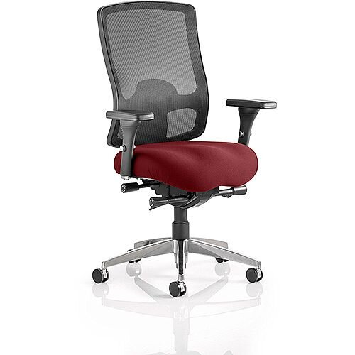 Regent High Mesh Back Task Operator Office Chair Chilli Red