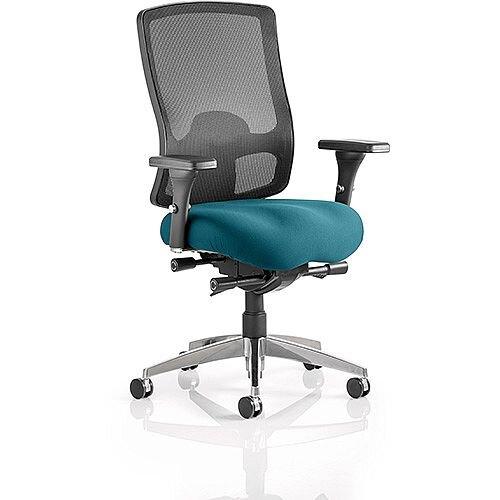 Regent High Mesh Back Task Operator Office Chair Kingfisher Green