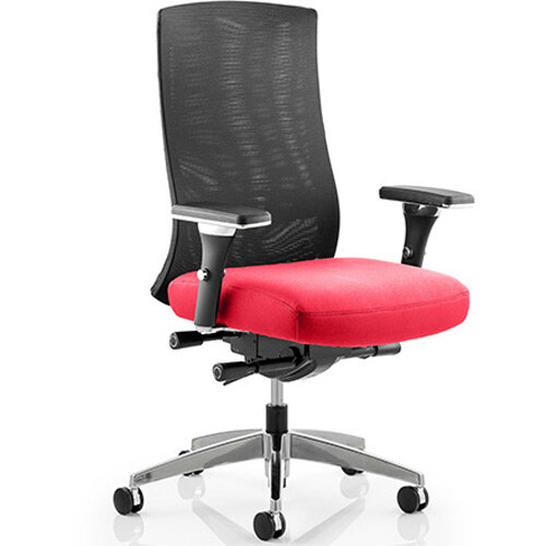 Tesla High Back Task Operator Office Chair Cherry Red