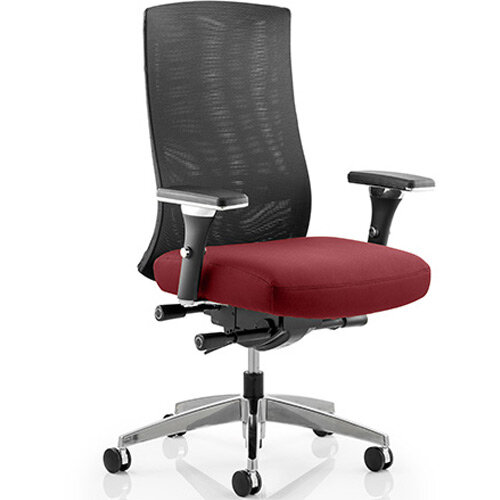 Tesla High Back Task Operator Office Chair Chilli Red