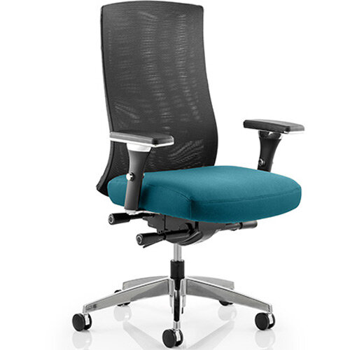 Tesla High Back Task Operator Office Chair Kingfisher Green