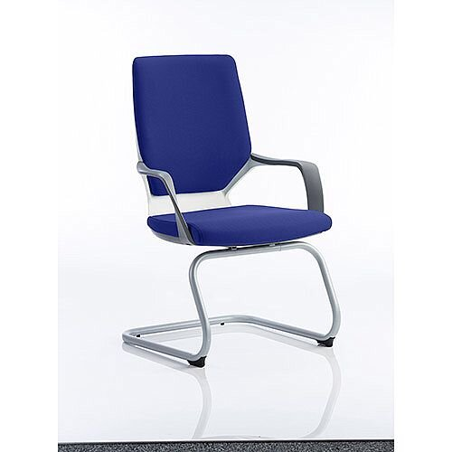 Xenon White Frame Boardroom &Visitor Chair Serene Blue