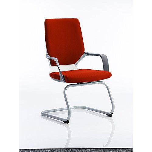 Xenon White Frame Boardroom &Visitor Chair Pimento Rustic Orange