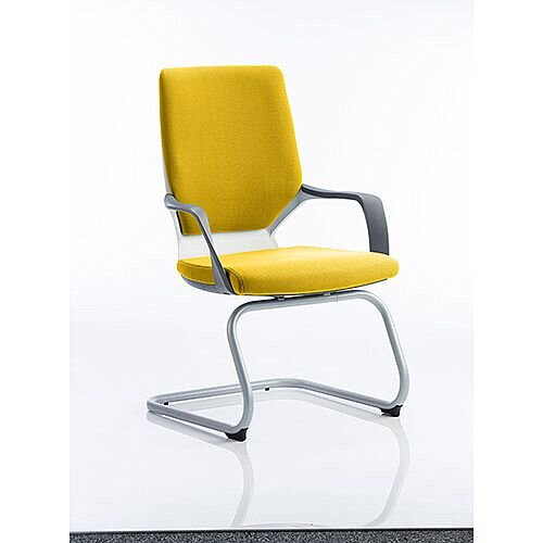 Xenon White Frame Boardroom &Visitor Chair Sunset Yellow