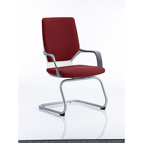 Xenon White Frame Boardroom &Visitor Chair Chilli Red