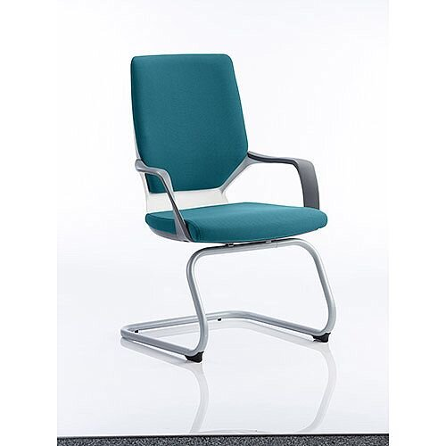 Xenon White Frame Boardroom &Visitor Chair Kingfisher Green