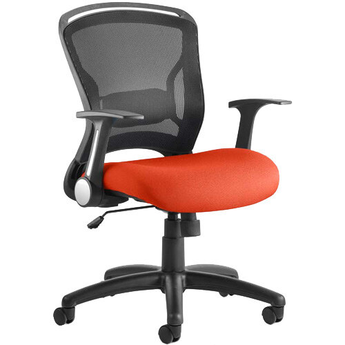 Zeus Task Operator Office Chair Pimento Rustic Orange
