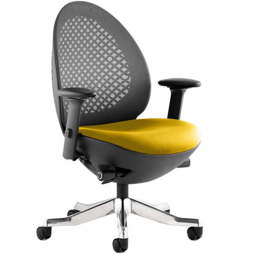 Revo Mesh Back Task Operator Office Chair In Sunset Yellow