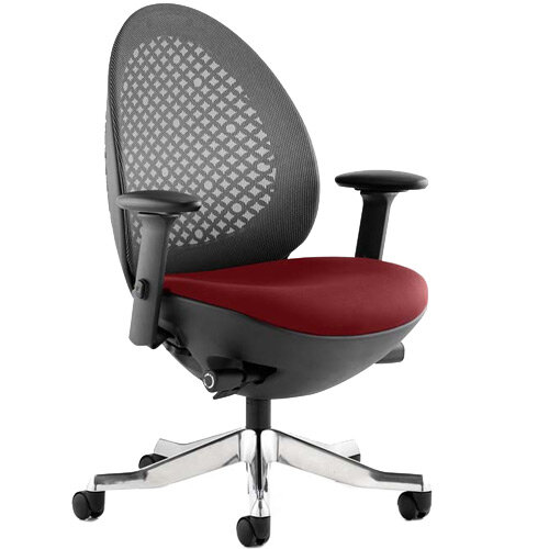 Revo Mesh Back Task Operator Office Chair In Chilli Red