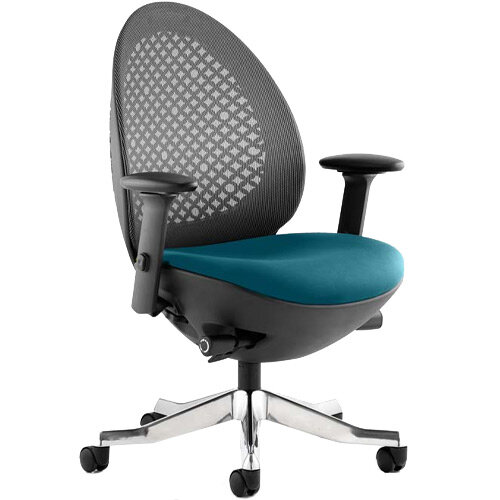 Revo Mesh Back Task Operator Office Chair In Kingfisher Green
