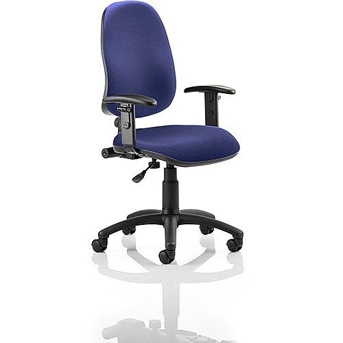 Eclipse I Lever Task Operator Office Chair With Height Adjustable Arms In Serene Blue