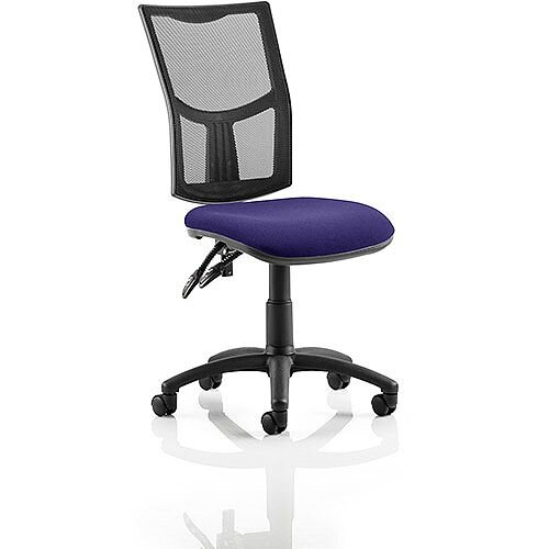 Eclipse II Lever Task Operator Office Chair Mesh Back With Purple Seat