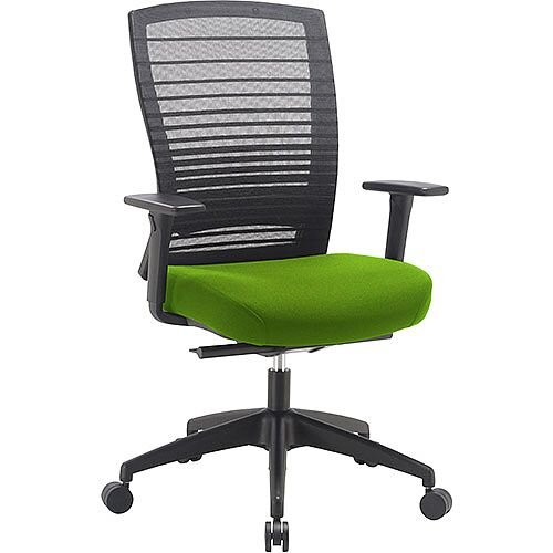 Norton Task Operator Mesh Back Office Chair With Swizzle Green Seat