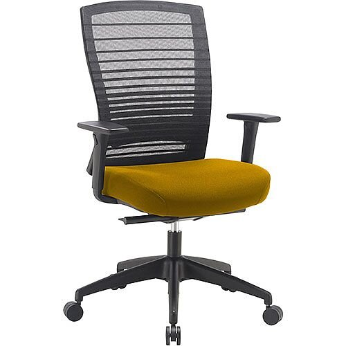 Norton Task Operator Mesh Back Office Chair With Sunset Yellow Seat