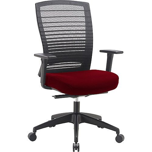 Norton Task Operator Mesh Back Office Chair With Chilli Red Seat