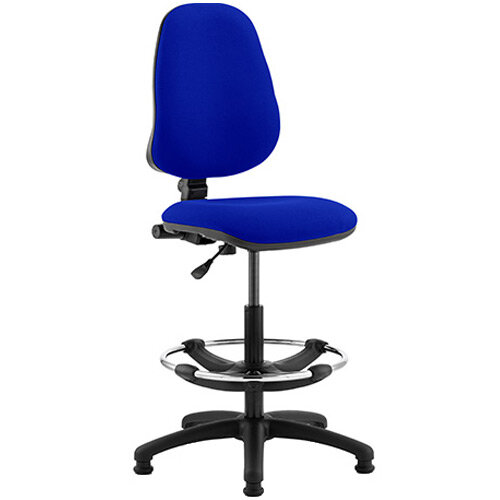 Eclipse I Lever Task Operator Office Chair Serene Blue With Draughtsman Kit