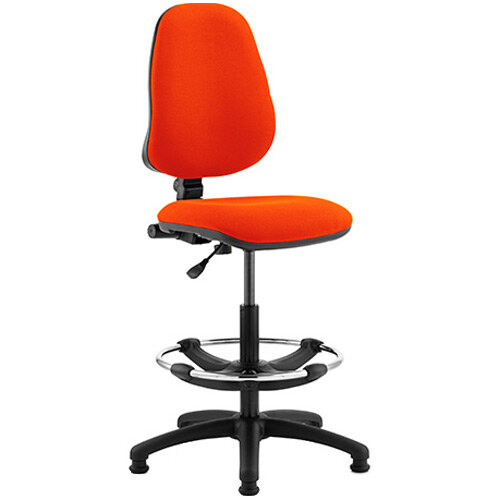 Eclipse I Lever Task Operator Office Chair Pimento Rustic Orange With Draughtsman Kit