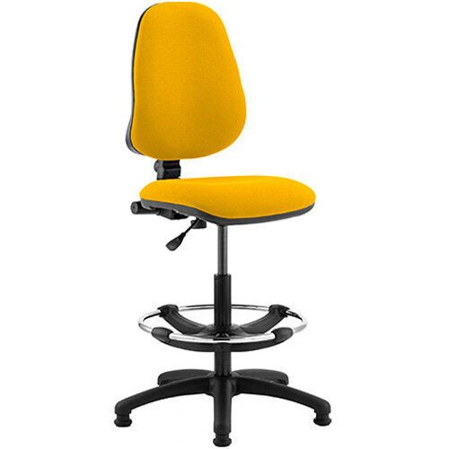 Eclipse I Lever Task Operator Office Chair Sunset Yellow With Draughtsman Kit