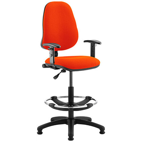 Eclipse I Lever Task Operator Office Chair Pimento Rustic Orange With Height Adjustable Arms &Draughtsman Kit