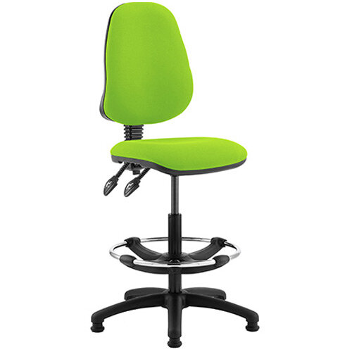 Eclipse II Lever Task Operator Office Chair Swizzle Green With Draughtsman Kit