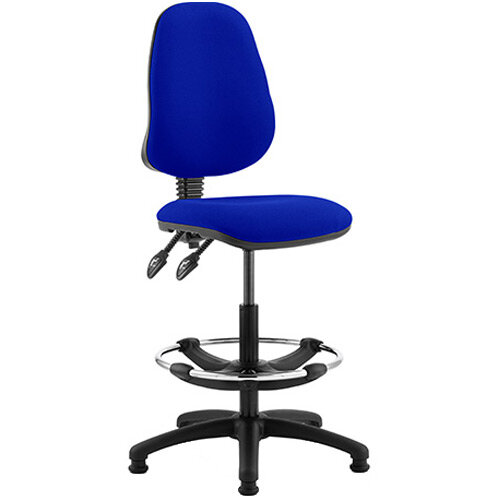 Eclipse II Lever Task Operator Office Chair Serene Blue With Draughtsman Kit