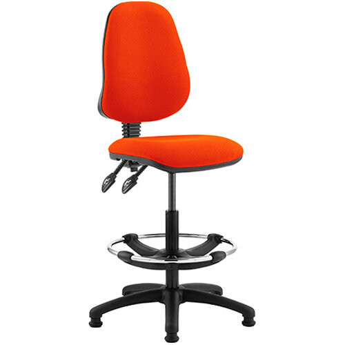 Eclipse II Lever Task Operator Office Chair Pimento Rustic Orange With Draughtsman Kit