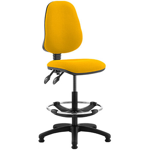 Eclipse II Lever Task Operator Office Chair Sunset Yellow With Draughtsman Kit