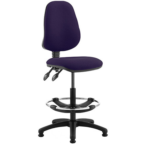 Eclipse II Lever Task Operator Office Chair Purple With Draughtsman Kit