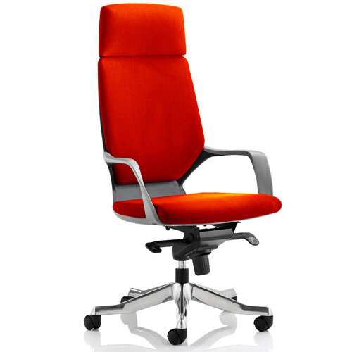 Xenon Black Frame High Back Executive Office Chair With Headrest Pimento Rustic Orange