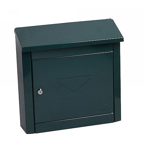 Phoenix Moda MB0113KG Top Loading Mail Box in Green with Key Lock Green