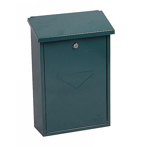 Phoenix Villa MB0114KG Top Loading Mail Box in Green with Key Lock