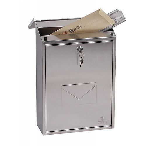 Phoenix Villa MB0114KS Front Loading Mail Box in Stainless Steel with Key Lock