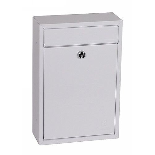 Phoenix Letra MB0116KW Front Loading Mail Box in White with Key Lock White