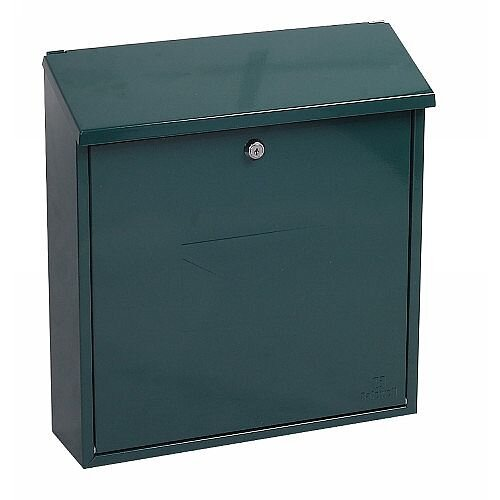 Phoenix Clasico MB0117KG Front Loading Mail Box in Green with Key Lock Green