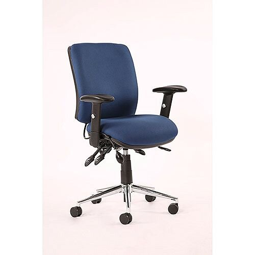 Chiro Medium Back Task Operators Office Chair Blue With Arms