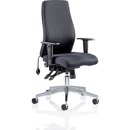 Onyx Ergo Posture Office Chair Black Fabric With Arms