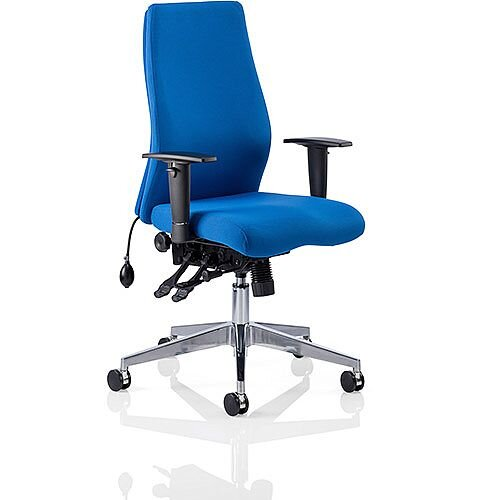 Onyx Ergo Posture Office Chair Blue Fabric With Arms
