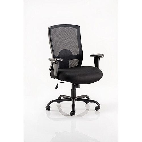 Portland HD Task Operator Office Chair Black Mesh With Arms