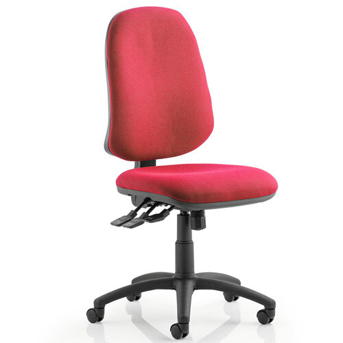 Eclipse XL III Lever Task Operator Office Chair Wine