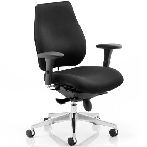 Chiro Plus Ergo Posture Office Chair Black With Arms