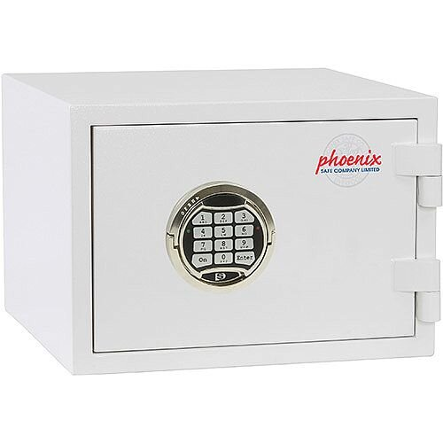Phoenix Citadel SS1191E Size 1 Fire &S2 Security Safe with Electronic Lock White 18L 30mins Fire Protection